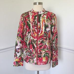 Additions By Chico's Multicolor Zip Up Jacket